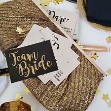 20 x TEAM BRIDE THEME DARE CARDS - Hen Party Accessory / Hen Night Dare Cards