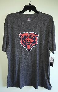 NWT $32 Majestic Men's Chicago Bears L XL Short Sleeve T-Shirt TEE Black #248317