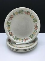 "4 Wedgwood QUINCE Salad Plates 8 3/4""  No chips or cracks , visible utensil wear"