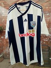 WEST BROMWICH ALBION FC 2011-12 HOME ADIDAS BLUE & WHITE FOOTBALL SHIRT L VGC