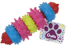 Crufts Dog Swivel 5 Ring Dental Rubber Teething Toy Puppy Play Chew Healthy Gums