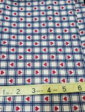 5/8 Yds Sewing Fabric Country Classics Folk Art Christmas Ameritex Vintage Heart