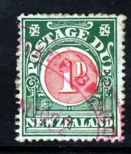 NEW ZEALAND 1925 POSTAGE DUE 1d. Carmine & Green Wmk Upright P.14x15 SG D30 VFU