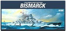 Academy Ship 1/350 Scale Hobby Plastic Model Kit German Bismarck Battle #14109