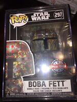 🔥Funko POP! Star Wars: Futura x Funko - Boba Fett Special Edition 297 w/ Stack