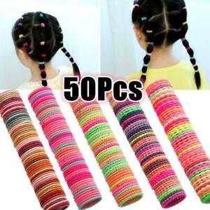 50Pcs Baby Kids Girls Elastic Hair Rope Band Ties Ring Hairband Ponytail Holder