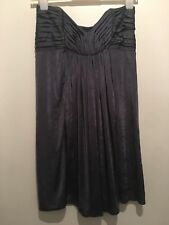 UK 12 TOPSHOP GREY STRAPLESS BABYDOLL DRESS/TOP SUMMER/TOWIE/CELEB/PARTY/CHELSEA
