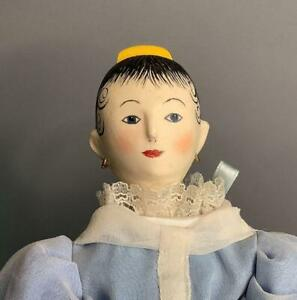Austrian Peg Wooden Doll Produced by the Metropolitan Museum of Art Includes Box