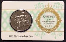 2015 RAM 50c royal baby- of the duke and duchess of Cambridge