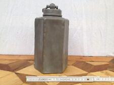 alte Zinn Flasche Schraubdeckel Block Zinn 8-eckig