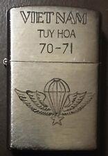 Vietnam War Zippo Lighter. Tuy Hoa 70-71.
