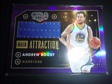 Andrew Bogut Panini Main Attraction Rare Purple Gala Jersey Card