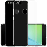 For Huawei P10 Lite Ultra-Thin Transparent Soft TPU Gel Silicone Full Case Cover