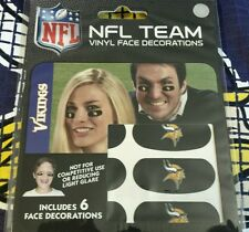 NFL Set of 6 Eye Strip Stickers Minnesota Vikings (Face/Body Decorations) 3 Pair