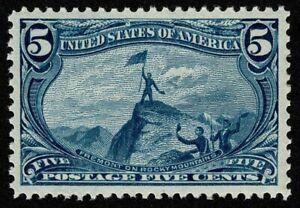 Scott#288 5c Trans Mississippi 1898 Mint H Dist OG Well Centered