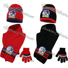 FULLY LICENSED OFFICIAL SONIC THE HEDGEHOG HAT GLOVES AND SCARF SET 52cm- 54cm