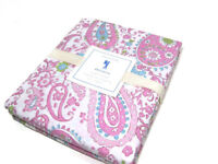 Pottery Barn Kids Multi Color Pink Brooklyn Floral Flower Paisley Twin Cover New