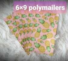 Pineapple pink Designer Poly mailer size 6x9 shipping envelope bag