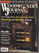 Popular Woodworking Magazine February 2014 Recycling and Reusing Material