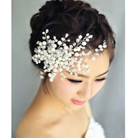 Charm Delicate Bridal Crystal Pearl&Rhinestone Headpiece Wedding/Hair Bride X8H4