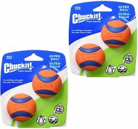 """Chuckit! Dog Fetch Toy Ultra Ball Durable Rubber Fit Launcher SMALL 2"""" 