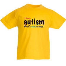 I Have Autism T Shirt Tee Top Childrens Kids Girls Boys 3yrs-15yrs