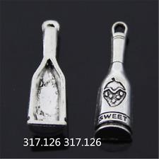 10PC Tibetan Silver wine bottle Charms Pendant Jewellery Craft wholesale GU965
