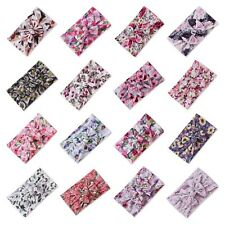 *NEW* Floral Printed Baby Headband Wrap Top Knot Bow Girl Infant Toddler Newborn