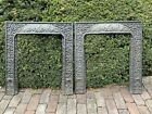 2 Victorian Ornate Heavy CAST IRON Fireplace Grates Insert Antique Architecture
