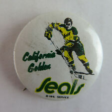 "1960's California Golden Seals 1"" Vintage Pinback Button - Hockey CA"