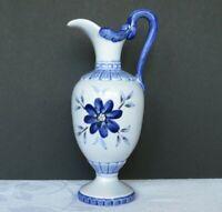 Blaue japanische Porzellan Sammlervase mit blumenmotiv Blaumalerei 15 cm hoch