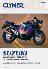 CLYMER REPAIR MANUAL Fits: Suzuki GSX-R750,GSX600F Katana,GSX-R1100