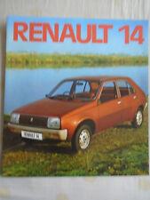 Renault 14 range brochure Dec 1976