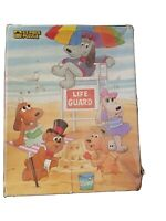 Vintage 1986 Pound Puppies Life Guard 63 Piece Golden Jigsaw Puzzle Complete