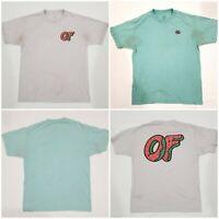 Odd Future Logo T Shirt's Size M Green/White Supreme 100% Authentic (Lot of 2)