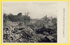 cpa Guerre 39-45 Bombardement St LO (Manche) La TOUR des REMPARTS vue de la GARE