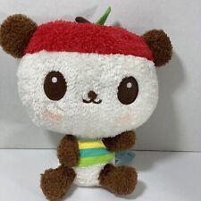 "WITH TAG SANRIO 2008 PANDAPPLE PANDA APPLE STUFFED ANIMAL PLUSH  10"""