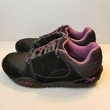 Kuru Womens Sz 9 Jet Black Purple Chicane Trail Hiking Suede 200812 Shoe Sneaker