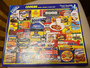 White Mountain Puzzle Cookies Rare COMPLETE 1000 Pieces