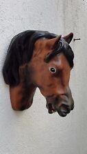 Pferdekopf Wandrelief Büste zum Hängen Pferd Figur Wanddeko Dekoration 3801 F13