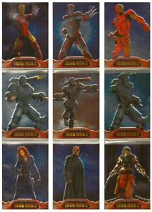 2010 IRON MAN 2 ARMORED CHASE CARDS SET