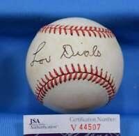 Lou Dials Jsa Coa Autograph National League Onl Hand Signed Baseball