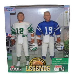 "Joe Namath & Johnny Unitas 1998 Starting Lineup 12"" Figure Set 31995"
