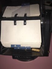 rolodex business roll with index and cards vintage