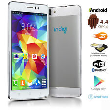"GSM Factory Unlocked Duo Core 5.5"" Android 4.4 3G Smart Cell Phone AT&T T-Mobile"