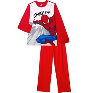 MARVEL SPIDERMAN Boy's size 4/5 FLANNEL PAJAMAS 2-Pc PJ Set ~ New with Tags