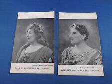 POSTCARDS LOT OF 2 LILY BANDMANN AS ALMIDA WILLIAM MACLAREN AS CLAUDIAN ACTORS