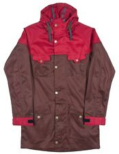 iNi Cooperative CAMPER Mens Wax Coated Hooded Jacket Large Rust Red NEW