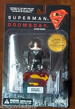 DC DOOMSDAY SUPERMAN. SOLAR SUIT SUPERMAN ACTION FIGURE. NEW ON CARD. 4 INCHES.