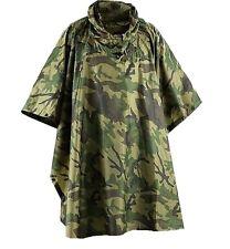 GENTS RIP-STOP WATERPROOF WINDPROOF PONCHO Mens Camo army jacket basha shelter